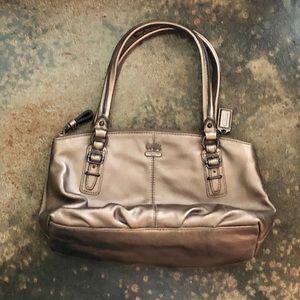 Coach metallic mini-bag